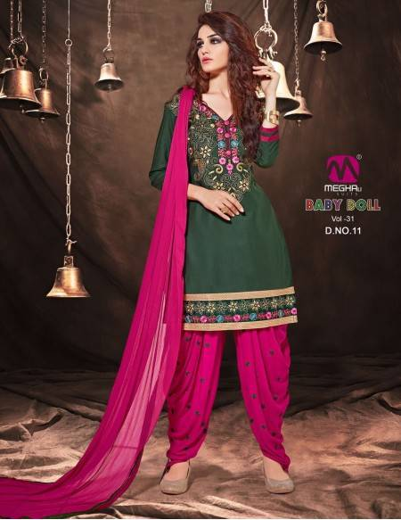 Bollywood Indian Patiyala Salwar Kameez 3 Pc (NV8)