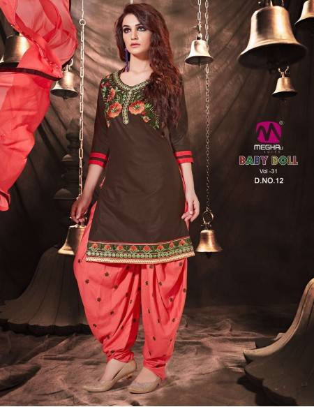 Bollywood Indian Patiyala Salwar Kameez 3 Pc (NV10)
